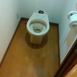 トイレの内装リフォーム(壁紙の張り替え・便器交換)|東京都渋谷区笹塚の某マンション