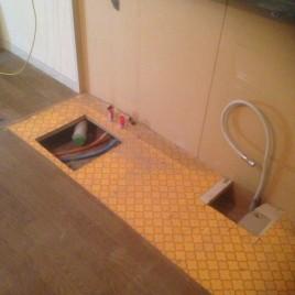 お部屋の雰囲気にあったコンパクトサイズのキッチン|川崎市高津区のAマンションにてキッチンのリフォーム