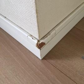 巾木(はばき)の角の剥がれを修復・補修|東京都世田谷区等々力のDマンションにて内装リフォーム