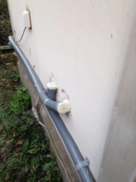 外部の配管を新設