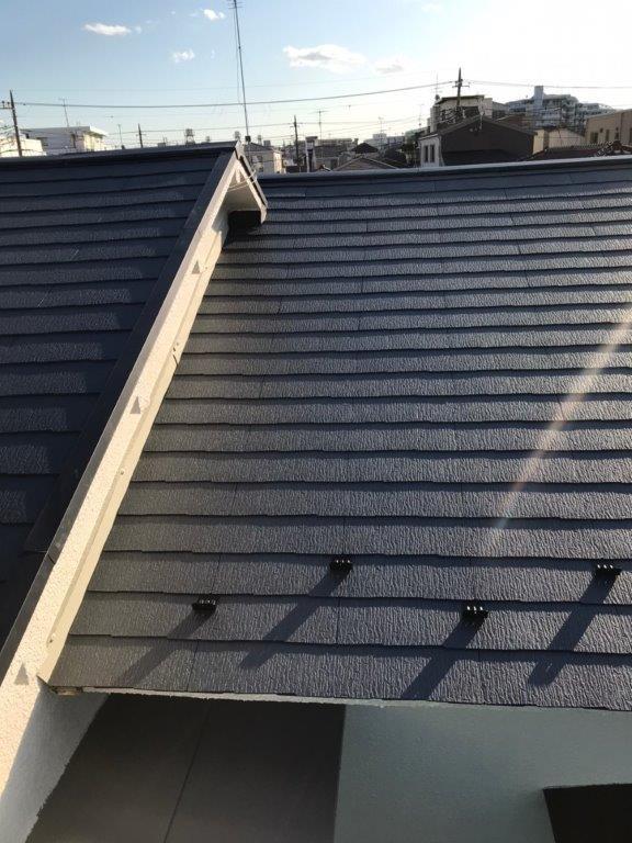 コロニアル屋根の塗り替え塗装