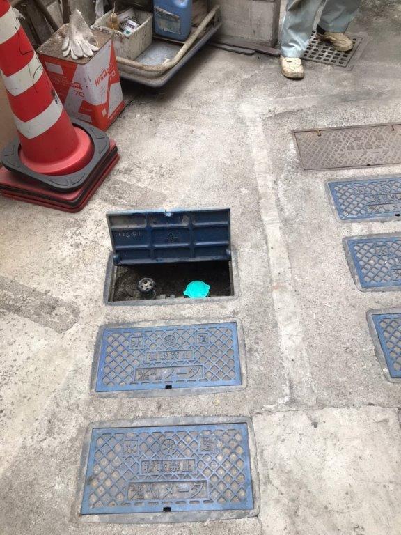 止水栓の修理