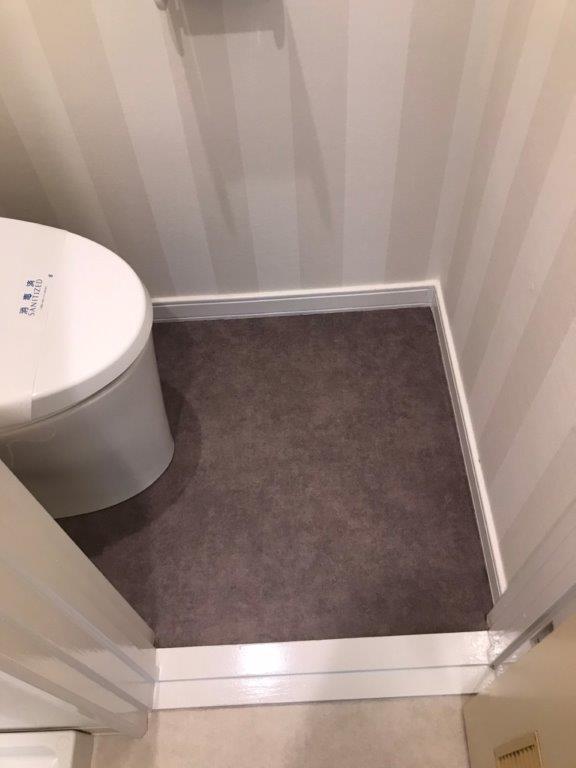 トイレ内のクッションフロア