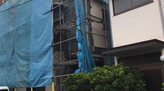 台風対策後のシート