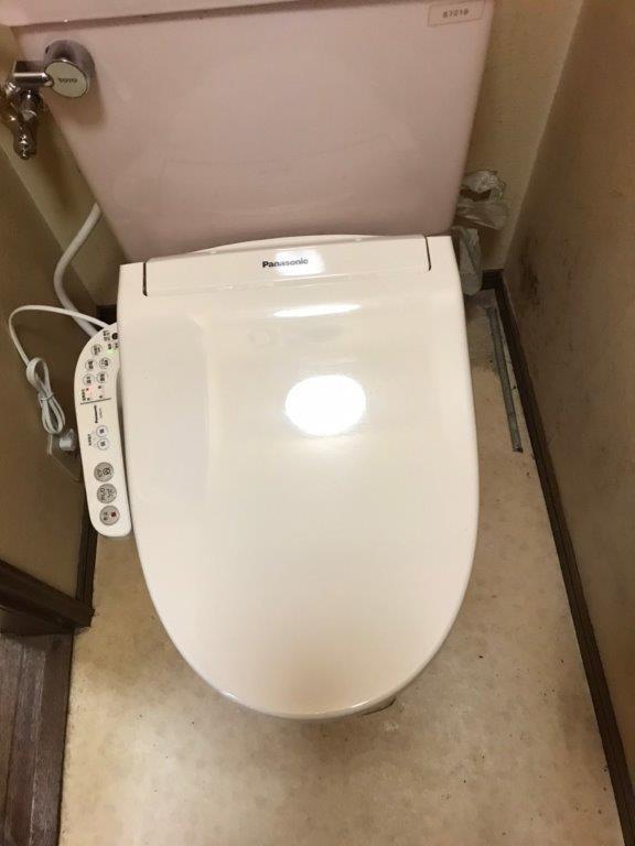 トイレのウォシュレット交換後