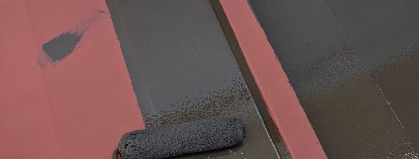 金属屋根の上塗り塗装