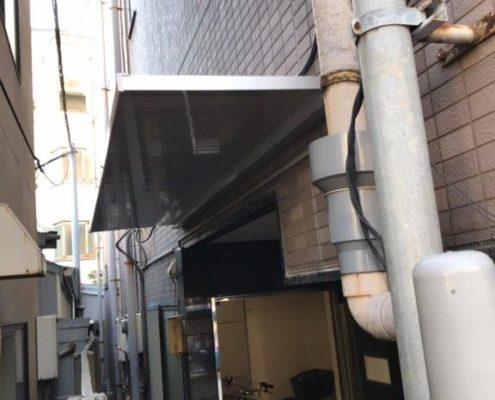 屋根(庇)の設置後